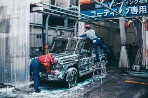 professional car washing