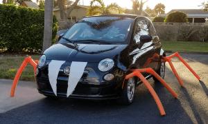 Halloween Car Fiat 500