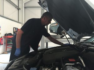 mechanic engine inspections