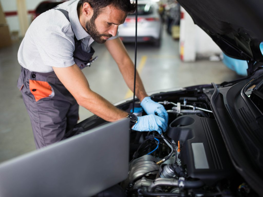mot checks being conducted by a mechanic in Barnsley