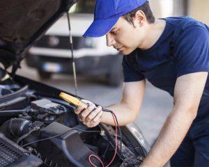 car servicing checks with a mechanic